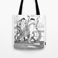 apollonia Tote Bags featuring asc 515 - Sketchwork by From Apollonia with Love