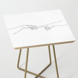 Creation of Adam Minimal Drawing Side Table