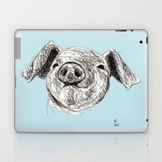 Baby Animals - Pig (Blue) Laptop & iPad Skin