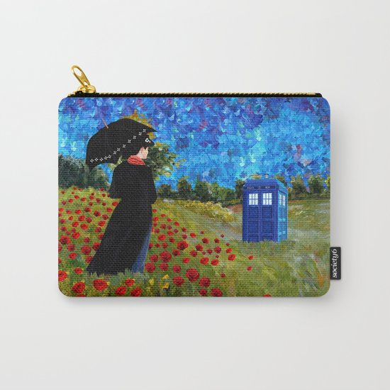 mary poppins and phone box at rose field iPhone 4 4s 5 5c 6, pillow case, mugs and tshirt Carry-All Pouch