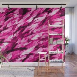 Designer Camo in Hot Pink Wall Mural