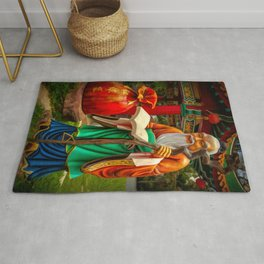 Yue Lao Statue Rug