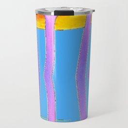 BLUE CALLA LILIES & MOON WATER GARDEN  REFLECTION Travel Mug