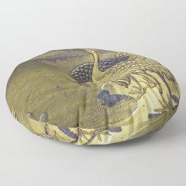 Golden Birds Floor Pillow