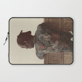 19th Century Japanese Tattoo (Fence) Laptop Sleeve