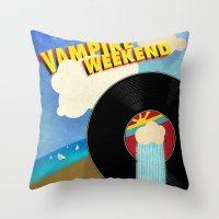 vampire weekend Throw Pillows featuring Vampire Weekend - Chicago by Luke Eckstein