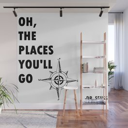 Oh, The Places You'll Go by Dr. Seuss Wall Mural