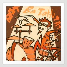Jazz Men - Drums Art Print