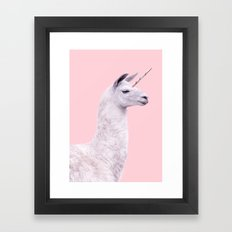 UNICORN LAMA Framed Art Print