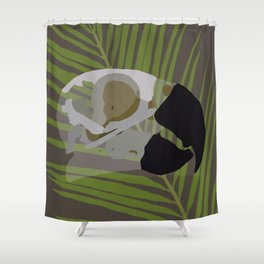 Feathered Palms Shower Curtain