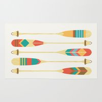 rowing Area & Throw Rugs featuring Summer Lake by Picomodi