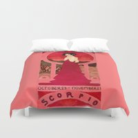 scorpio Duvet Covers featuring Scorpio by Sprat