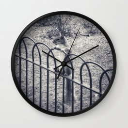 The Lonely Squirrel Wall Clock