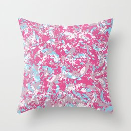 Unicorn abstract hand-painted texture Throw Pillow
