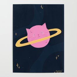 Planet cat-urn Poster