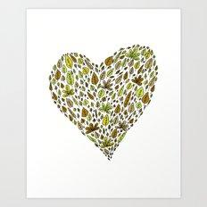 Lovely green leaves Art Print