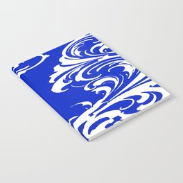 Damask Blue and White Notebook