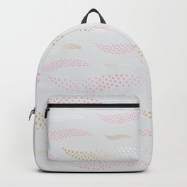 Waves / Tiger (stylized pattern) 18 Backpack