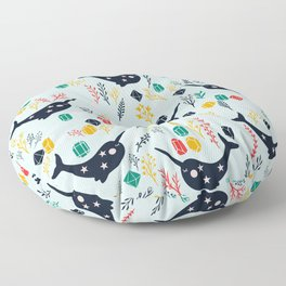 Cute Narwhal Floor Pillow