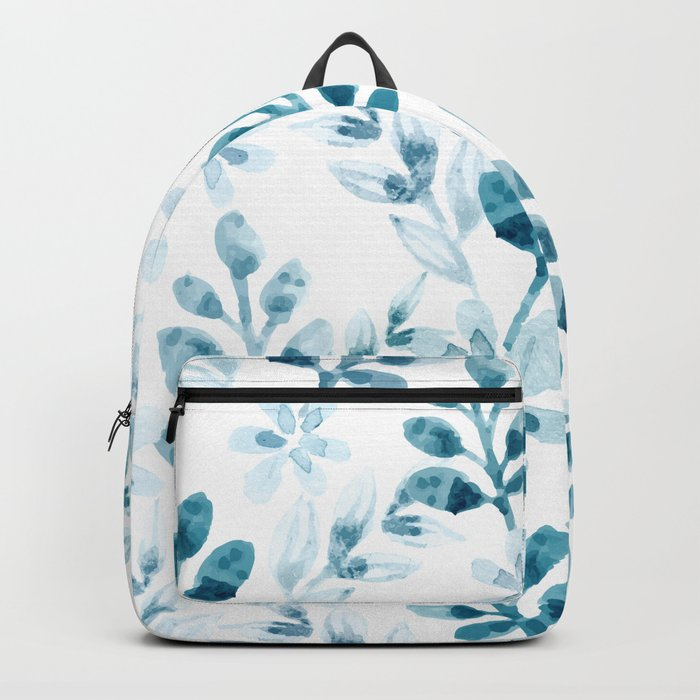 Watercolor Floral Pattern (Winter Version) Backpack