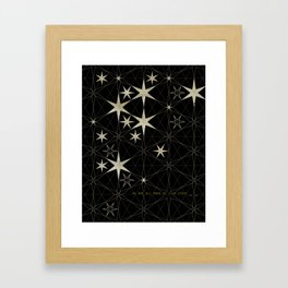 We Are All Made of Star Stuff Framed Art Print