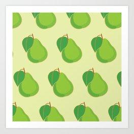 Pear Pattern Art Print