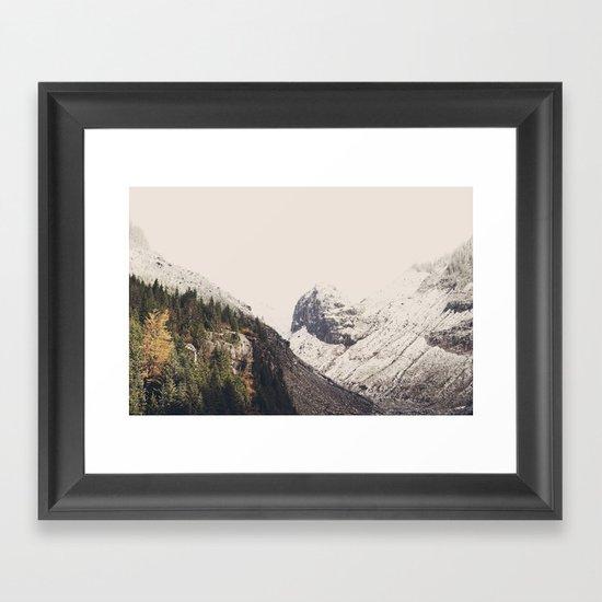 Winter Mountain Morning Framed Art Print