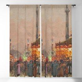 Paris La foire du Trône à la place de la Nation by Eugene Galien Laloue Blackout Curtain