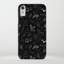 Magic School - book, wizard, witch, witchcraft, spells, houses, glasses, scar, sword, ra iPhone Case