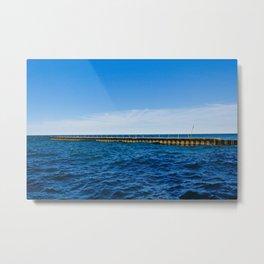 Pier on the Lake Metal Print