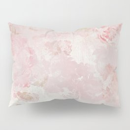 Vintage Floral Rose Roses painterly pattern in pink Pillow Sham