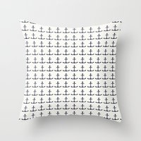 anchors Throw Pillows featuring anchors by Kirk and Wood
