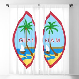 Seal of Guam Blackout Curtain