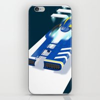 spaceship iPhone & iPod Skins featuring SpaceShip by LoweakGraph