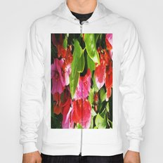 Vibrant pink and red flowers Hoody