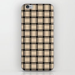 Bisque Brown Weave iPhone Skin