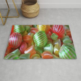 Multi-Colored Striped Candy Rug