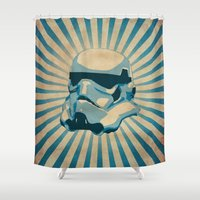 trooper Shower Curtains featuring The trooper by Durro