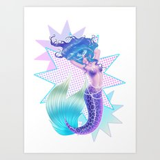Mermaid POP Art Print