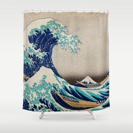 Massive Waves Japanese Art Shower Curtain