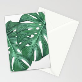 Monstera Tropical Leaf Painting Stationery Cards