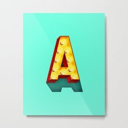 A in lights Metal Print