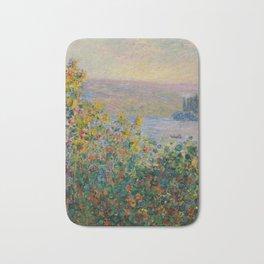 """Claude Monet """"Flower Beds at Vétheuil"""" Bath Mat"""