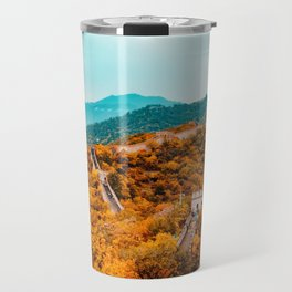 The Great Wall of China in Autumn (Color) Travel Mug