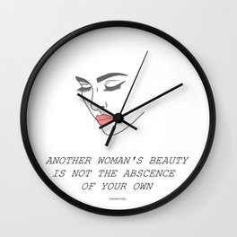 Another Woman's Beauty Wall Clock