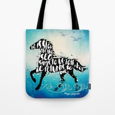The Scorpio Races quote design Tote Bag