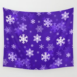 Light Purple Snowflakes Wall Tapestry