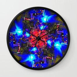 Asphalt Flower Wall Clock
