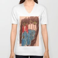zombies V-neck T-shirts featuring Zombies  by Drake Darklight