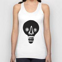 skulls Tank Tops featuring Skulls by KatrinDesign